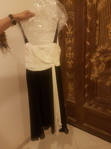 black and white dress from debehams