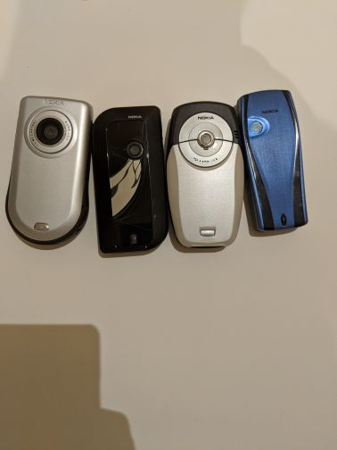 assorted collection of retro nokia phone