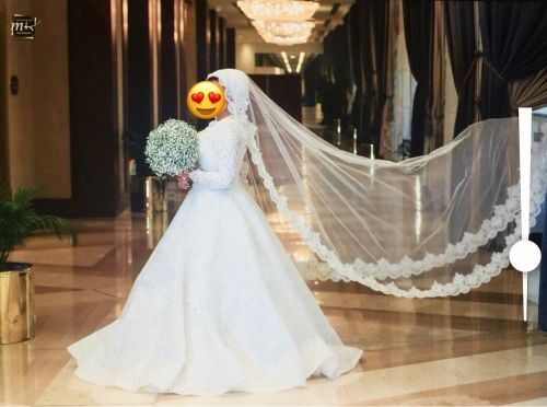 Wedding dress + veil
