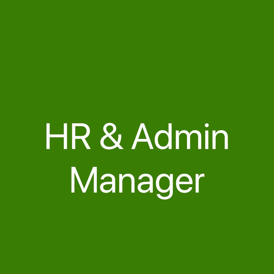 HR & Admin Manager