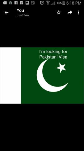 looking for Pakistani Visa