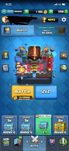 clash royal for sale almost max