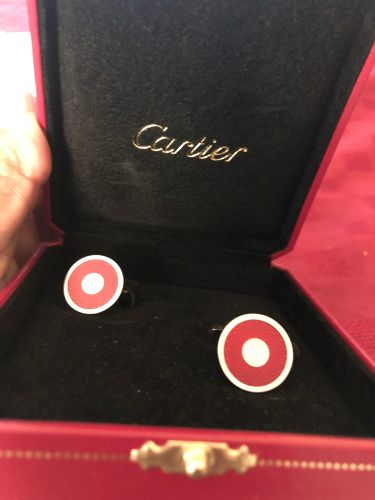 Cartier Red color cuff links