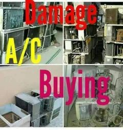 we are buying all damage A/C, copper, co