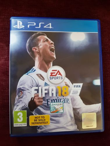 For sale FIFA 2018 game for PlayStation