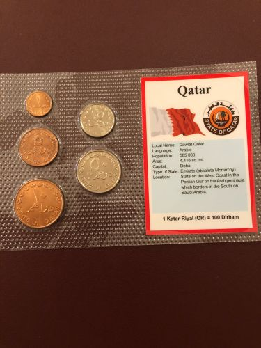 Qatar coins with details