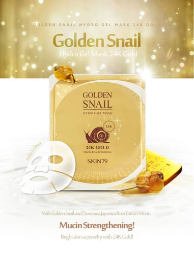 24K Gold Snail for face smooth