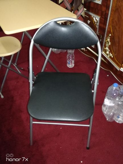 Two folding chairs
