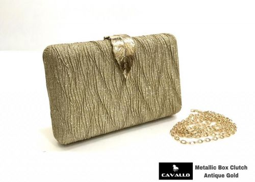 Cavallo Metallic Box Clutch