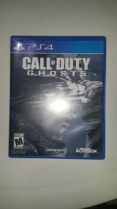 للبيع لعبة call of duty ghosts