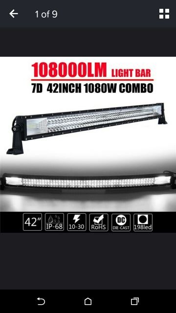 1080 WATT led light bar 42'