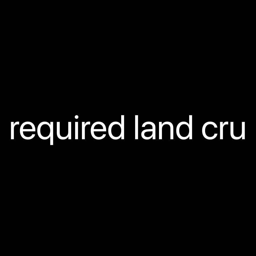 Required land cruiser