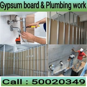 partition, painting and plumbing
