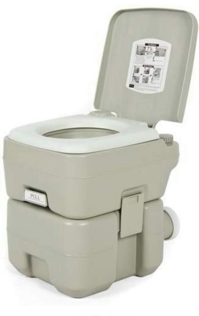 Mobile camping toilet with tent