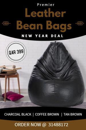 Brand new leather bean bags
