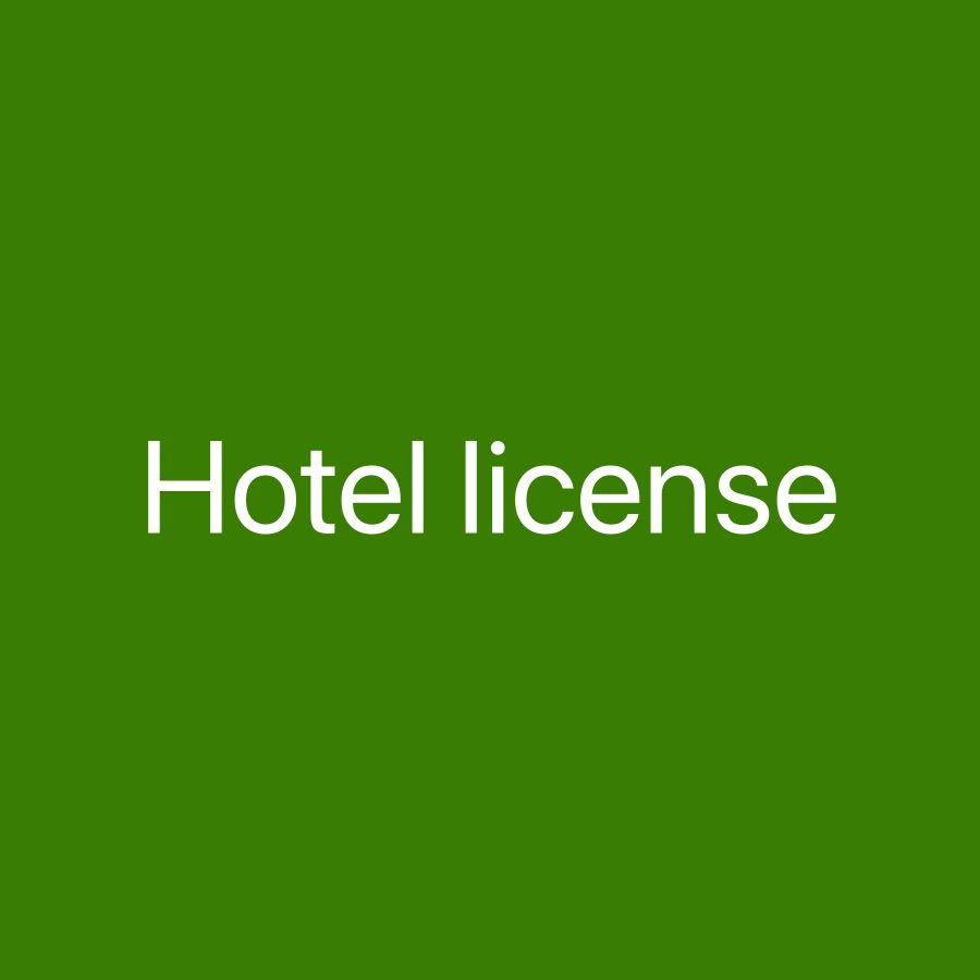 Hotel 3 stars license for sale
