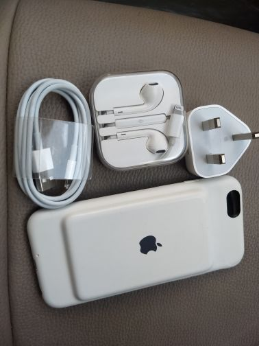 iPhone power case with charger headset