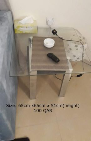 glass table and cabinet for sale