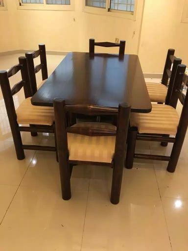 L Shape sofa and 6 chairs dinning table
