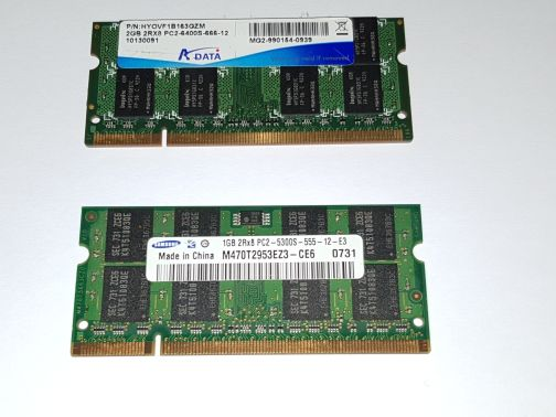 LAPTOP DDR2 RAM 2GB and 1GB