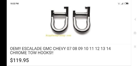 Chrome hook for GMC &Chevy
