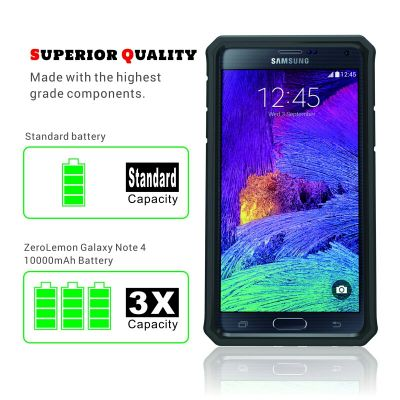 Galaxy Note 4 10000mAh Extended Battery