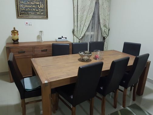 Dining set (Table+ Cabinet+8 chairs)