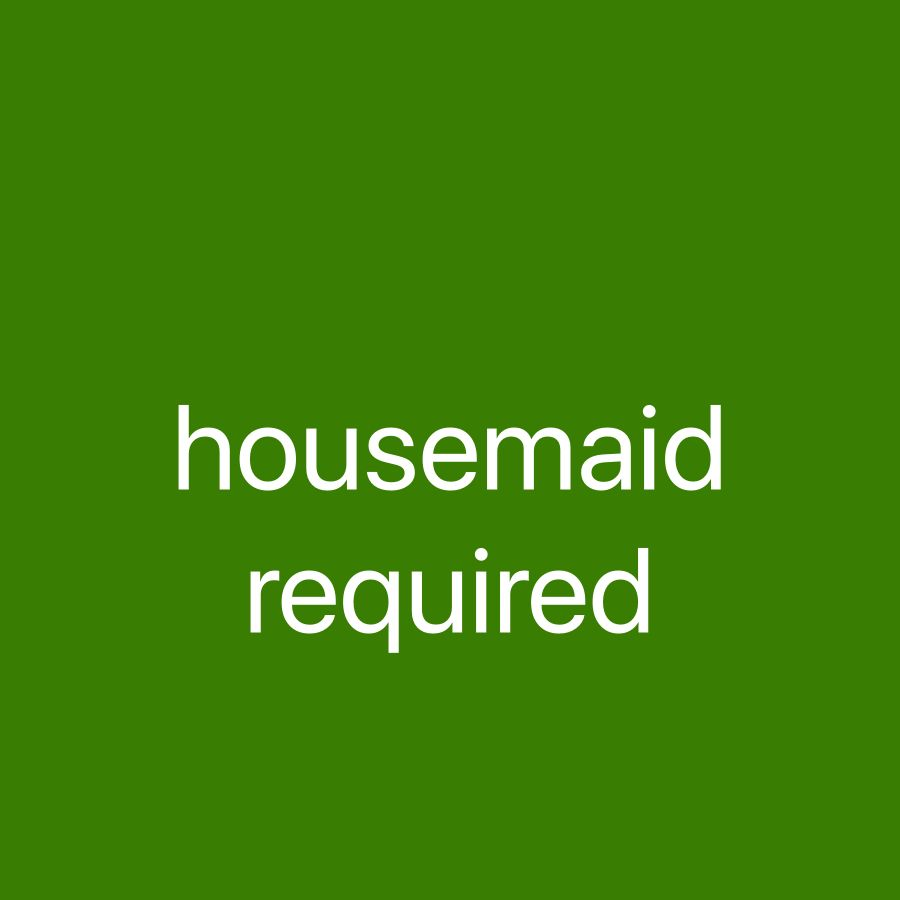Philippina housemaid required