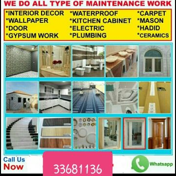 All maintenance works