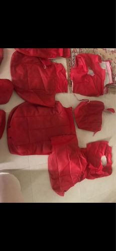 Full car cover color red