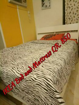 Bed and Mattress with drawer chest