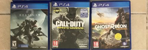 Destiny 2 & cod & ghost recon