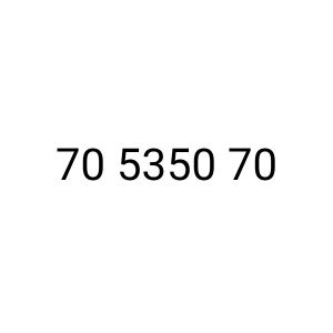 Vodafone new fancy number 70 5354 70