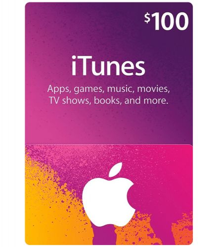 iTunes gift card 100$ (digital)