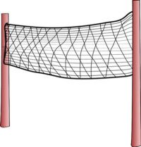 Large Olympic volley ball net