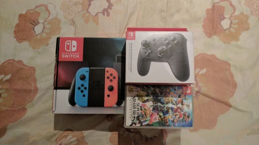 Nintendo Switch + pro controller + game