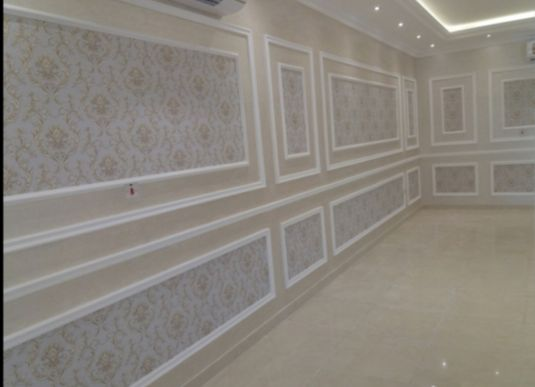 GYPSUM WORK AND PAINT