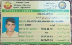 driver with qatar license