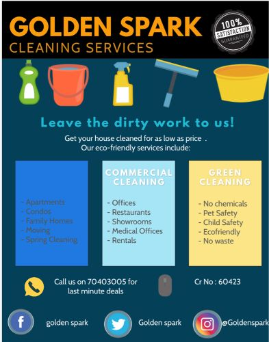 Golden spark cleaning services