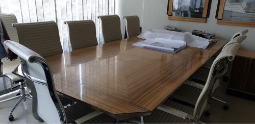 Huge meeting table and 9 chairs