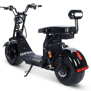 Electric scooter with battery