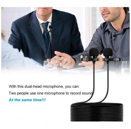 Dual lav mic for phone and camera