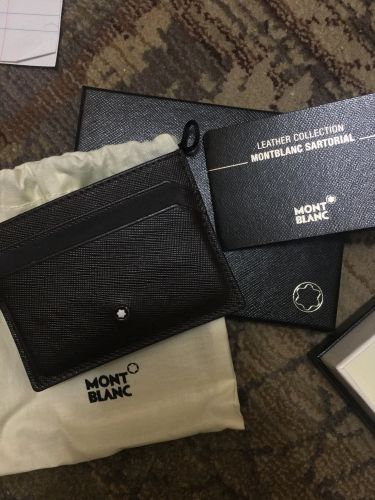 Mont blanc leather card holder