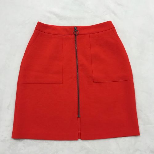 Red zip up miniskirt
