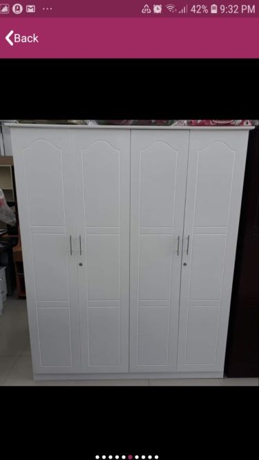 New bed and cabinet sale