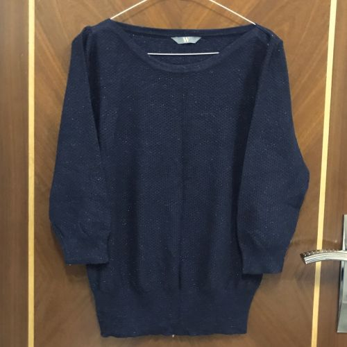 BHS sparkly navy sweater