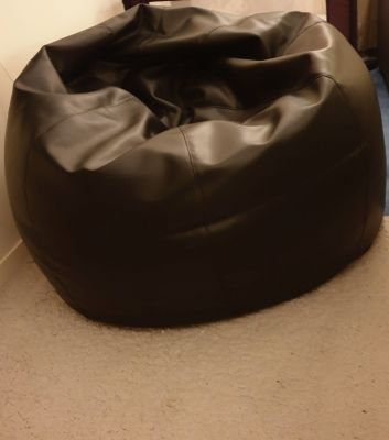 Pure leather bean bag
