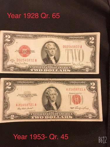 Old 2 US$ 1938,1953