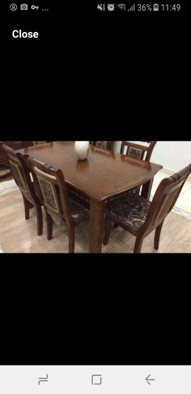 dining table perfect solid wood 6 chairs