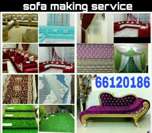 wallpaper curtains sofa making fixing